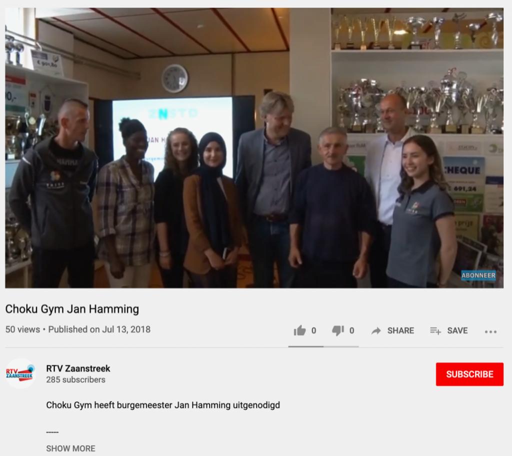 Choku Gym en burgemeester Jan Hamming –  RTV Zaanstreek